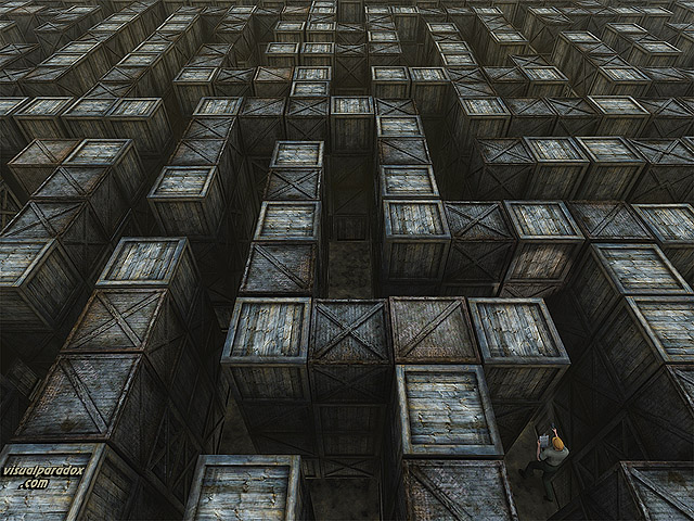 warehouse, maze, labyrinth, storage, search, lost, find, boxes, crates, clipboard, free, 3d, wallpaper