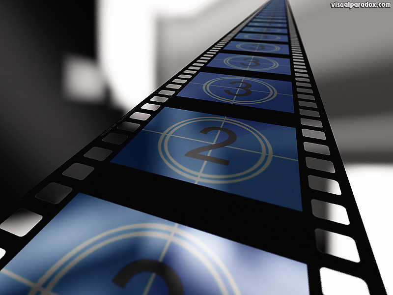 cinema movies film strip filmstrip motion picture count video clips show blue countdown clip movie, 3d, wallpaper