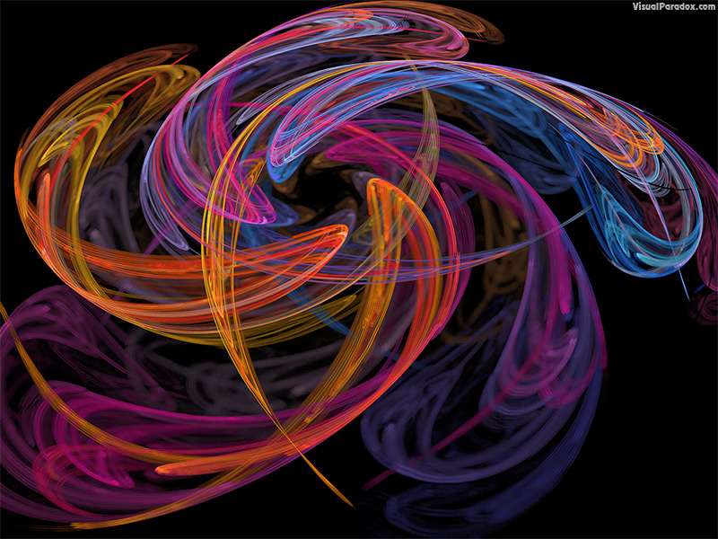 fractal, flame, swirl, star, flower, spin, orange, purple, magenta, depth of field, blur,  coalesce, coalesence, 3d, wallpaper