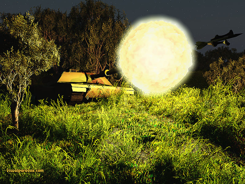 tank, abrams, rocket, shell, round, fire, cannon, blast, shoot, battle, 3d, wallpaper