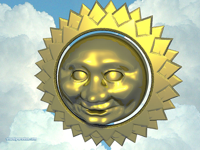 sky, star, clouds, mask, solar, happy, summer, man, face, sun, 3d, wallpaper