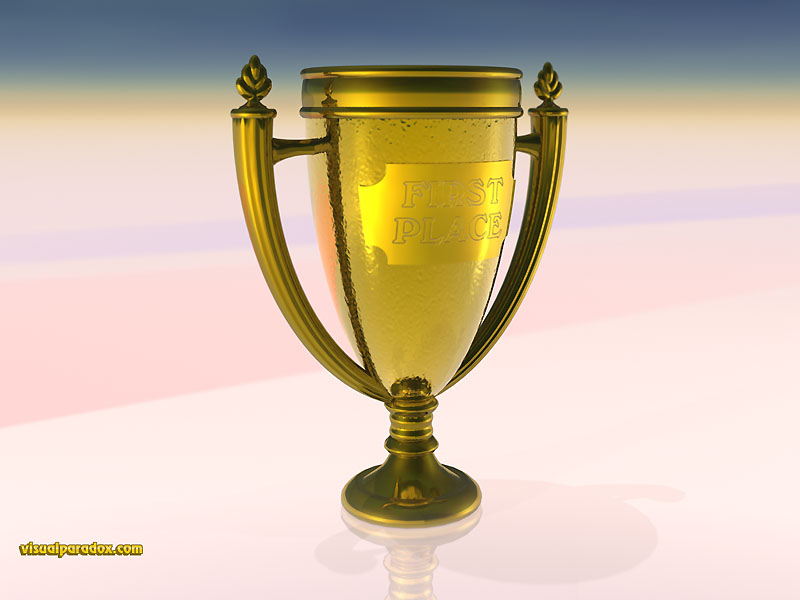 trophy, award, gold, champion, first, place, contest, awards, 3d, wallpaper