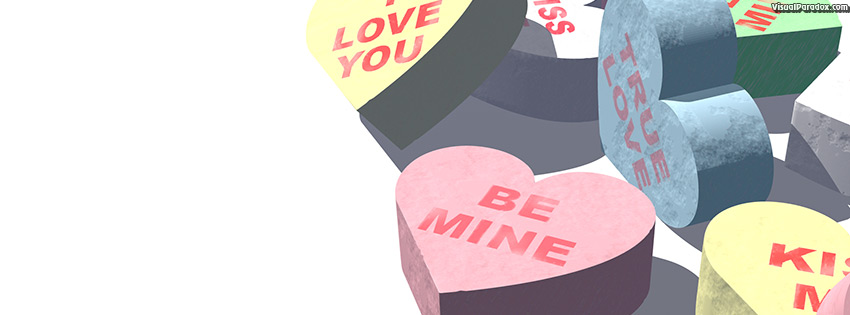facebook, coverphoto, cover, sweets, gift, message, valentine's day, love, be mine, holiday, valentines day , 3d