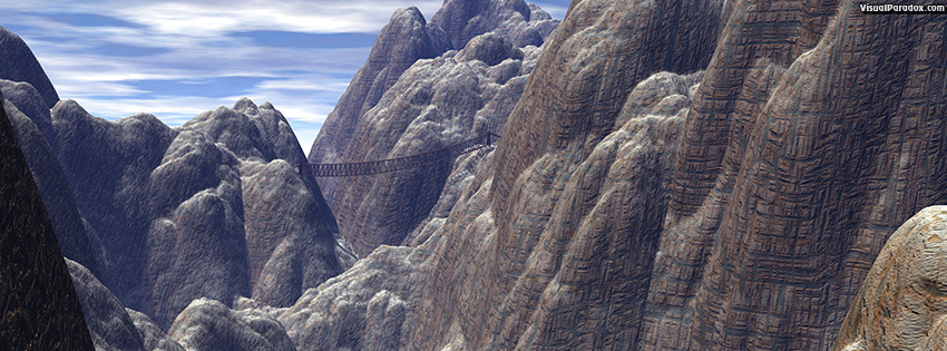 facebook, coverphoto, cover, cliff, mountain, hike, granite, walk, trek, rope, bridge, cliffs, mountains, 3d