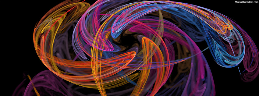 facebook, coverphoto, cover, fractal, flame, swirl, star, flower, spin, orange, purple, magenta, depth of field, blur,  coalesce, coalesence, 3d