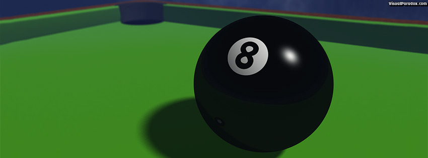 facebook, coverphoto, cover, pool, billiards, sports, game, black, 8, omen, trouble, 8ball, ball, 3d