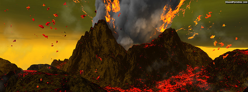 facebook, coverphoto, cover, eruption, explosion, hell, lava, red, volcanic, volcano, mountain, magma, ash, smoke, fire, active, volcanoes, erupt, volcanology, 3d