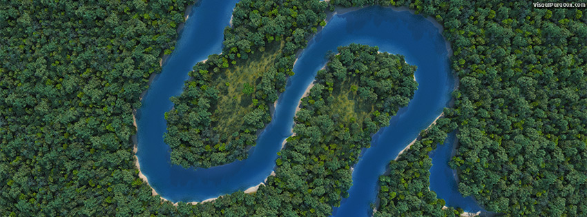 facebook, coverphoto, cover, meandering, snaking, curvy, sinusoidal, snake, forest, woods, trees, erosion, oxbow, lake, pond, channel, river, stream, creek, bed, 3d