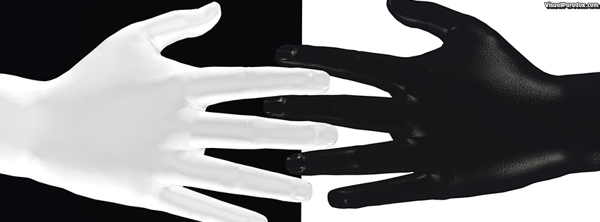 facebook, coverphoto, cover, hands, digits, black, white, color, colour, contrast, touch, 3d