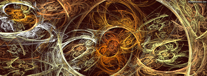 facebook, coverphoto, cover, abstract, art, background, black, brown, circle, cog, color, curve, decoration, design, digital, elegant, fractal, gears, gold, idea, illustration, light, machine, mechanical, modern, orange, pattern, round, shape, spiral, texture, trap, web, 3d