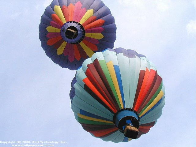 'Hot Air Balloons' 640x480 Free 3D Wallpaper