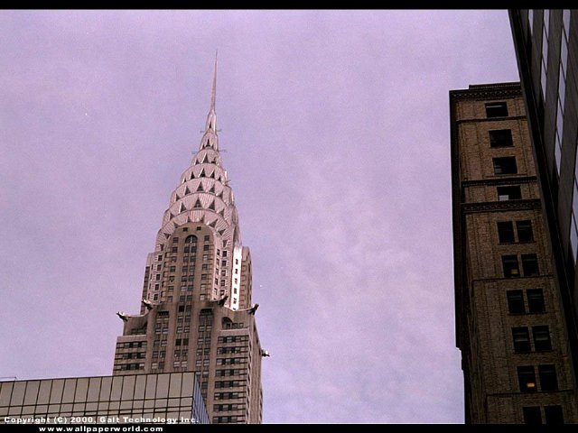 'Chrysler Building' 640x480 Free 3D Wallpaper