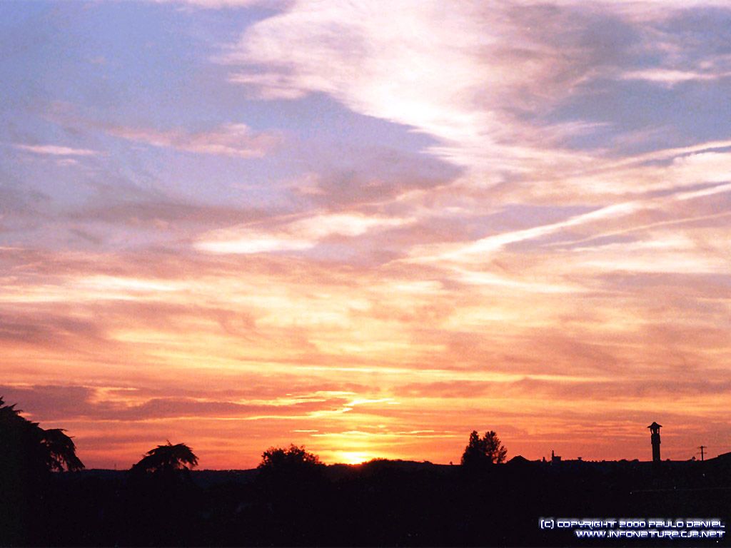 'Sunset in France' 1024x768 Free 3D Wallpaper