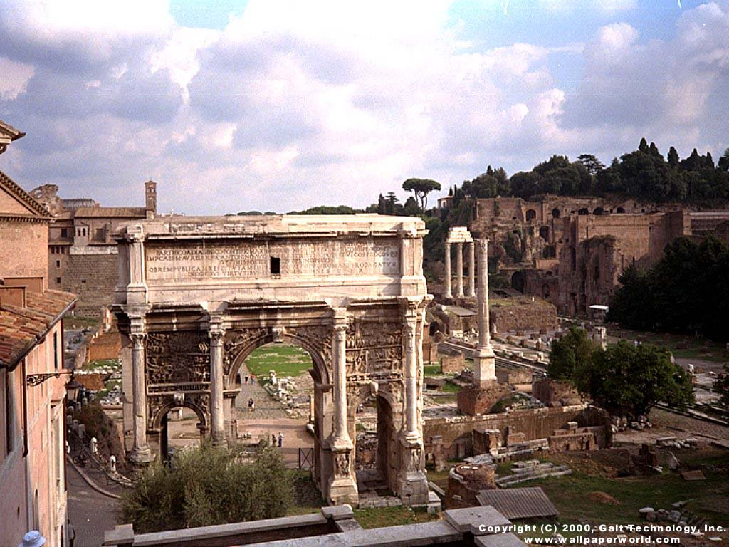 'Ruins of Ancient Rome' 1024x768 Free 3D Wallpaper