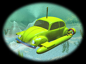 Yellow Submarine 3d wallpaper